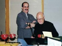 With Art Lange at the 'Faktura' recording session, October 2000